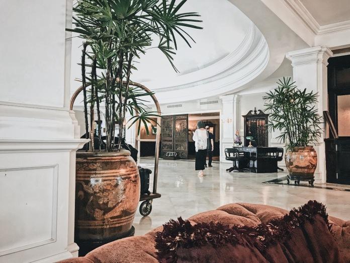Lobby interior at Main Wing